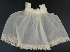 Vintage Pinafore Dress Pink Organdy 1950s Doll Baby