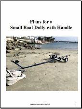 PLANS for Small Sail Boat Dolly (Cart, Carrier)  Sunfish, Laser, 420, Sabot, FJ