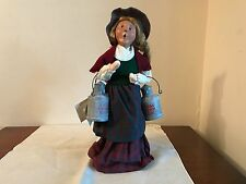 Byers Choice 1997 The Cries Of London Lady Holding 2 Milk Cans Figure 13""
