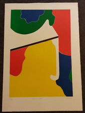 Man At Table by Thom De Jong (70s 80s Dutch NYC Artist) Abstract