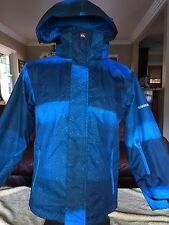 Quiksilver Snowboarding Jacket Youth size 10 Quick Tech 5,000 MM Blue for Boys