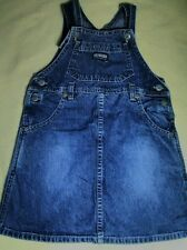 Oshkosh girls blue jean denim jumper dress sz 4t