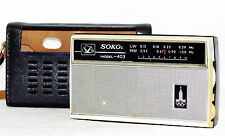 SOKOL-403 Olympic ! Russian Pocket Radio Transistor Receiver USSR 1980 MW AM LW