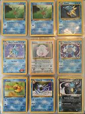 Binder Full Of Pokemon Cards + Base Set + RARES + 1st Ed + HOLOS + MORE Look!!!