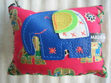 Cute Elephant Zipped Coin Purse/Wallet from Thailand (Red) 1 unit