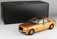 1:18 Kyosho Rolls-Royce Ghost Die Cast Model Gold 1200 PCS LIMITED