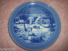 "CURRIER & IVES ""THE HOMESTEAD IN WINTER"" COLLECTORS PLATE~SLEIGH RIDE SCENE"