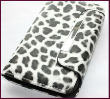 Samsung Galaxy S2 D710 (Sprint) - Black Leopard Cheetah Wallet Flip Pouch Case