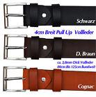 4mm Dick VOLL Leder Guertel Buckle, Farbe und Länge Wählbar