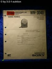 Sony Service Manual WM 3040 Cassette Player (#2104)