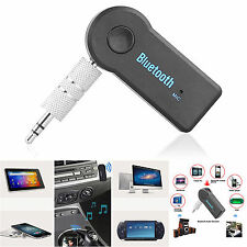 Bluetooth v4.0 Receiver Audio AUX Hand Free Car Stereo 3.5mm Line Jack A2DP UK