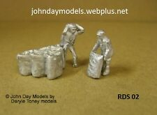 00/4MM JOHN DAY WHITE METAL FIGURES, COAL MEN WITH COAL LOAD SCENE