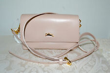 NWT $395 Longchamp Honore Smooth Leather Crossbody Bag Purse NUDE Sandy