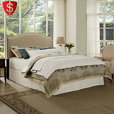 Upholstered Headboard Queen Full Size Bed Furniture Bedroom Tufted Fabric Linen