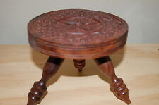 Pentacle Altar Table Carved Wood ,Wicca, Pagan, Goddess, Witch Shop, Spell
