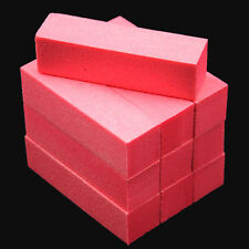 10Pcs Pink Nail Art Buffer File Block Pedicure Manicure Buffing Sanding Polish