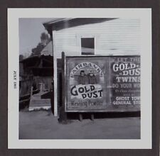VINTAGE OLD 1963 GHOST TOWN CALIFORNIA GOLD DUST WASHING POWDER ROADSIDE PHOTO