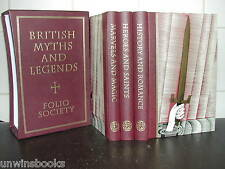 Ancient Britain MYTHS & LEGENDS Beowulf KING ARTHUR FOLIO SOCIETY 3 Vol Set ills
