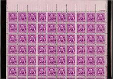 US MINT SHEET SCOTT#960,3C STAMP W.A. WHITE-JOURNALIST  OF 70 MNH OG