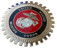 United States Marine Corps car grille badge c/w mounting hardware