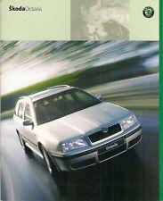 Skoda Octavia 2000-02 UK Market Sales Brochure Hatchback Estate 4x4