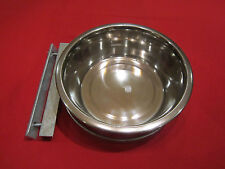 STAINLESS STEEL DOG BOWL 9 INCH AND BOLT ON HOLDER / RAISED DOG BOWL