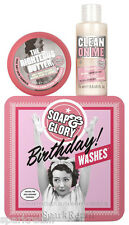 Soap & Glory BIRTHDAY WASHES Gift Box Clean on Me 75ml/The Righteous Butter 50ml