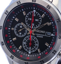 NEW MEN'S SEIKO CHRONOGRAPH ANALOG SPORTS WATCH SNDC49P1