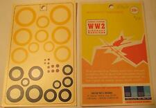 "WW2 His Air Dec 1:48 Scale British National Insignia A Type Yellow 20-40"" Decals"