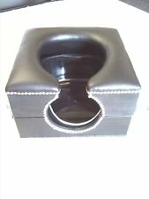 horse shoe smother toilet box black with locks and restraint points,50 shades