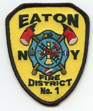 EATON NEW YORK NY Fire District FIRE PATCH
