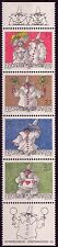 LIECHTENSTEIN 1998 N°1114/1117** Timbres de voeux , Greeting Stamps Clowns MNH