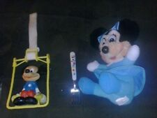 vintage disney mickey & minnie mouse toy plush baby fork lot kids childrens cool