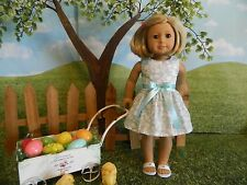 "American Girl fitting doll clothes Easter dress or similar 18"" doll"