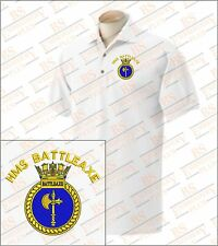 HMS BATTLEAXE Embroidered Polo Shirts