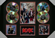 AC/DC Angus Young SIGNED FRAMED MEMORABILIA LIMITED EDITION 4 CD DISPLAY!