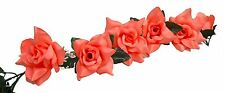 CORAL REEF / SALMON ~ Rose Garland Silk Wedding Flowers Arch Gazebo Decoration