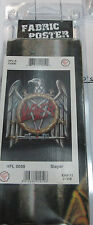 SLAYER TEXILE POSTER FLAG  RARE NEW NEVER OPENED DEATH DESTRUCTION PENTAGRAM
