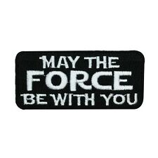 "Star Wars ""May The Force Be With You"" Movie Quote Iron-On Patch Craft Applique"