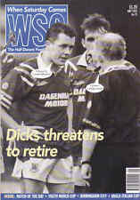 WHEN SATURDAY COMES Issue No.75 May 1993 Dicks Threats To Retire