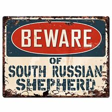 PPDG0044 Beware of SOUTH RUSSIAN SHEPHERD Plate Rustic Chic Sign Decor Gift