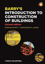 Barry's Introduction to Construction of Buildings, Good Condition Book, Gorse, C