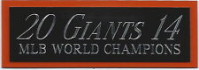 2014 Giants NAMEPLATE FOR AUTOGRAPHED Signed Baseball Display CUBE CASE
