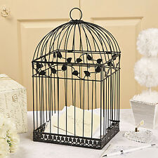 BLACK Birdcage Money Gift Box Wedding Wishing Well Card Box Bridal Shower Party