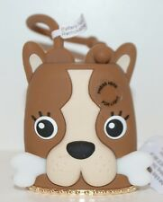 BATH & BODY WORKS BROWN DOG LIGHT UP BONE POCKETBAC HOLDER SLEEVE SANITIZER CASE