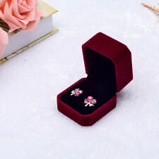 Velvet Engagement Wedding Earring Ring Pendant Bracelet Jewelry Display Gift Box