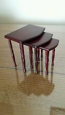 Dollhouse miniature Nest of Tables  Mahogany 1/12 scale