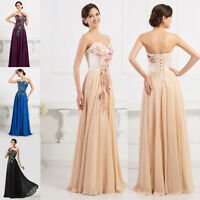 PLUS SIZE 20-26 Wedding Evening Formal Party PEACOCK Long Prom Bridesmaid Dress