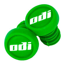 NYLON GREEN ODI  BAR END PLUGS HANDLEBAR CAPS BMX SCOOTERS  PUSH IN NEW