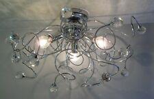 LAMPADARIO PLAFONIERA tipo swarovski sfere cristallo art. MINA  3 LUCI moderno